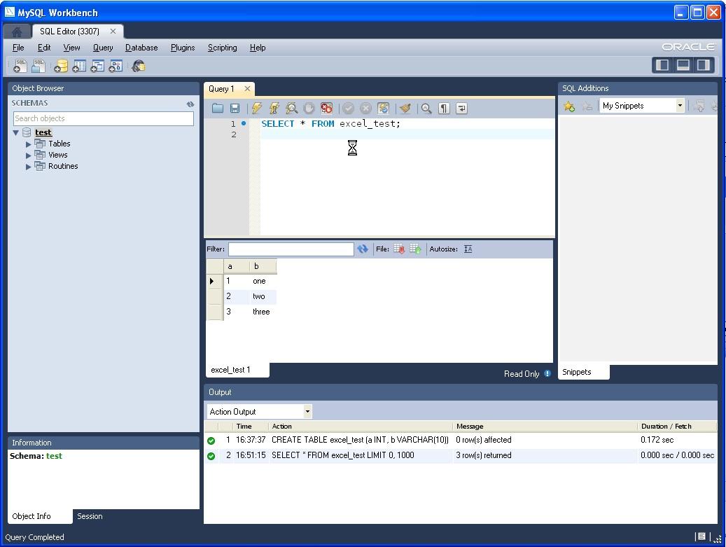 Using MySQL for Excel | Todd's MySQL Blog